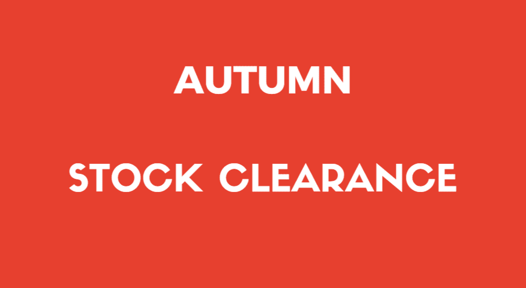 autumn stock clearance