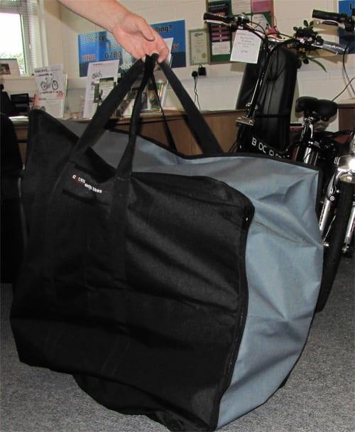 Axcess Shetland in folding bike bag