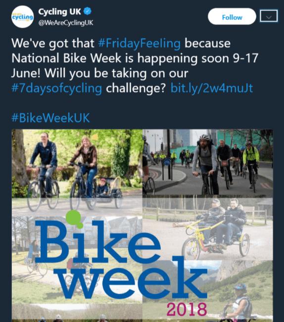 national bike week 2018