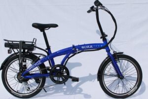 Buzz folding e-bike blue
