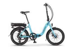 Wisper 806SE folding electric bike in blue