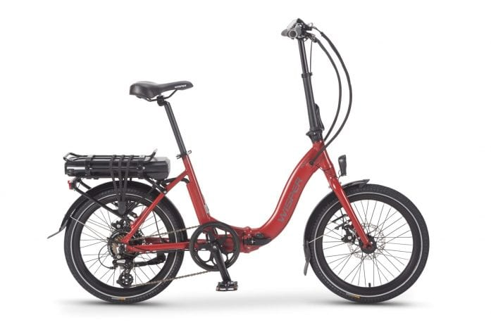 Wipser 806SE folding electric bike in red