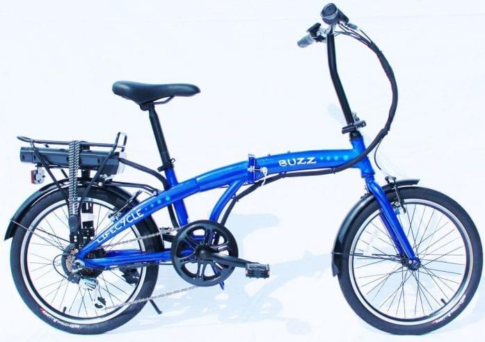 Lifecycle Buzz folding ebike blue