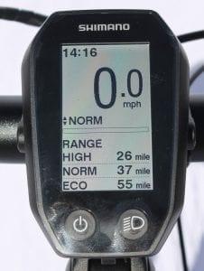 Shimano Rider Display on Ideal Futour