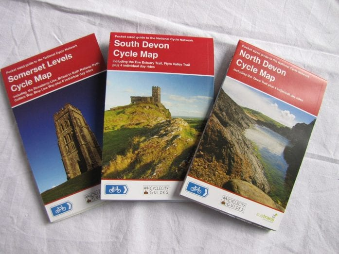 Somerset Levels, North Devon and South Devon cycle maps