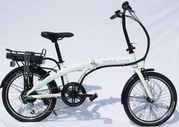Lifecycle Buzz folding ebike White
