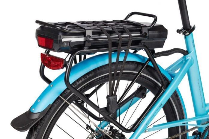 Wisper rear battery rack